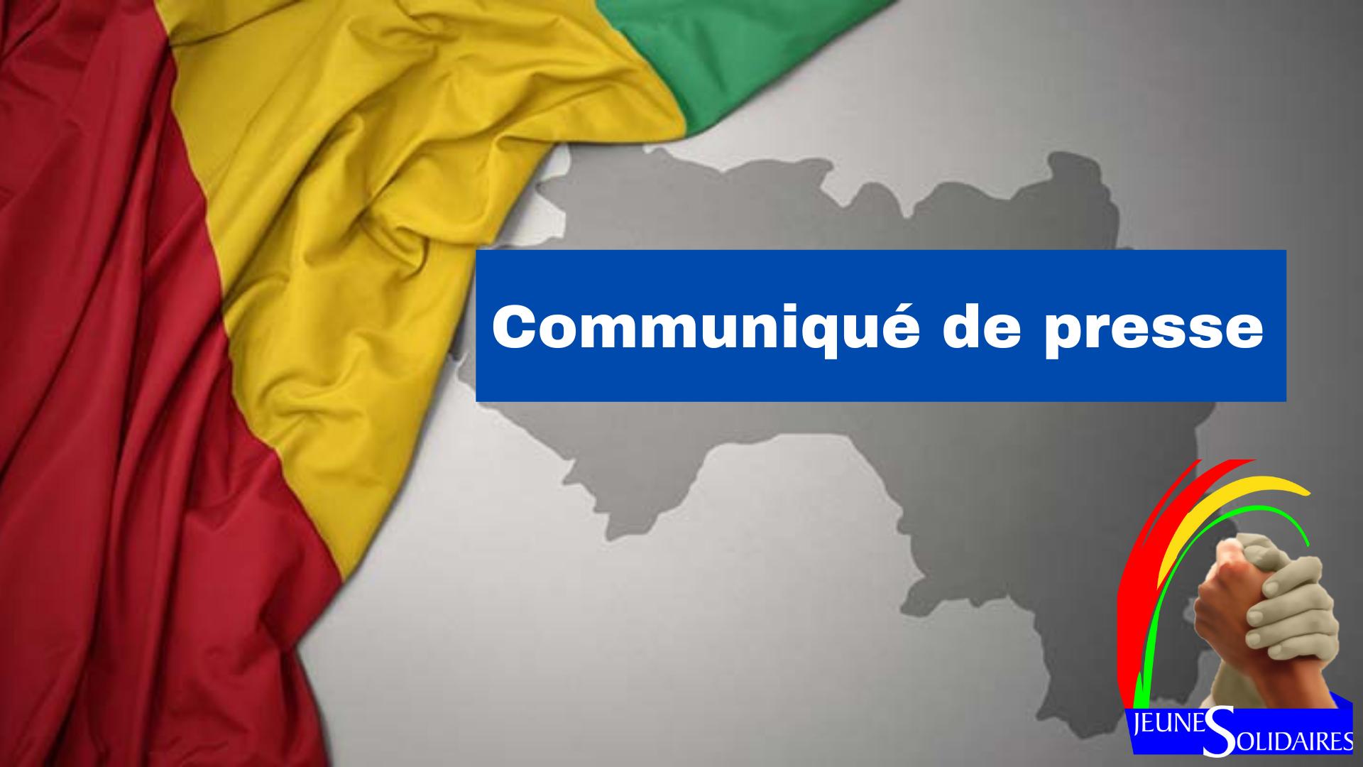 Communiqué de la plateforme Jeunes Solidaires sur la prise du pouvoir par le CNRD!